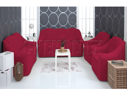 Комплект чехлов Велсофт, цвет Бордовый