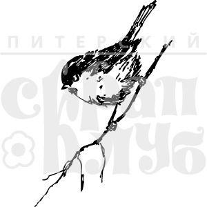 "штамп ""ЕВ. Птичка на веточке"""