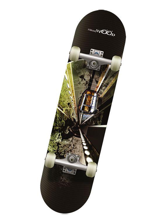 Профессиональный скейтборд Hello Wood SUBWAY