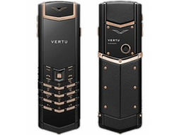 Vertu signature s design pure black red gold serial