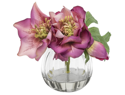 Цветок в геле  0 XMAS ROSE IN GLASS LAUREN , 093882 ,
