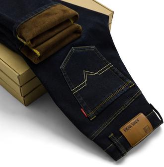 Джинсовые штаны, теплые