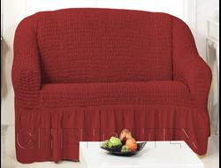 Чехол Стандарт на 2-х местный диван, цвет Бордовый