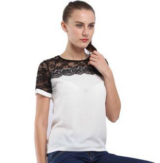 Летняя женская блузка из шифона с коротким рукавом