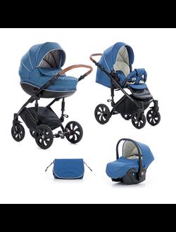 Универсальная коляска Tutis Zippy Mimi Style  (3 в 1) Цвет 309 Джинсовый лен/ темно Голубой