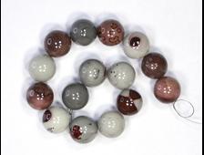 Бусина Яшма «чохуа» шар 12 мм (1 шт) №18351