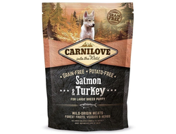 Сухой корм для собак Carnilove Carnilove Salmon & Turkey for Large breed puppy 1,5 кг