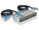 Переключатель D-Link DKVM-4K 4xChannel 1xHD15Pin&2xPS With Cables 2x(DKVM-4K)