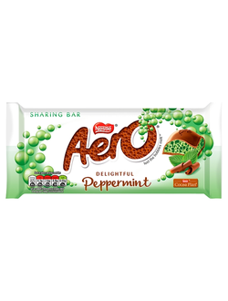 Пористый шоколад Nestle Aero Giant Block Peppermint с мятой