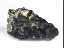 Сфалерит, Пирит, щетка кристаллов, Перу (62*35*30 мм, 106 г) №16670