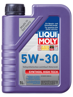 МАСЛО МОТОРНОЕ LIQUI MOLY SYNTHOIL HIGH TECH 5W30 1Л. СИН. КОД 9075