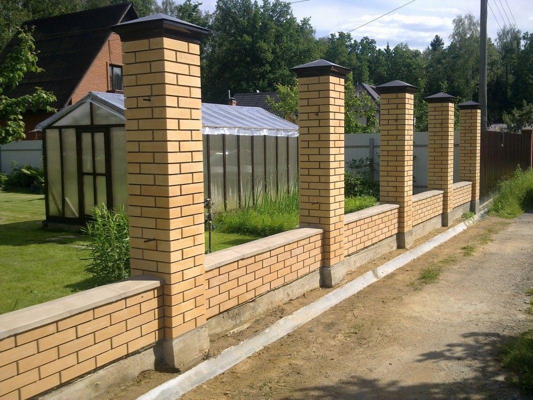 Кирпичные столбы для забора во Владимире | Выгодные цены на кирпичные столбы  | «Профограждения»