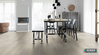 Виниловый пол Wineo 600 Wood XL CopenhagenLoft RLC189W6 в интерьере