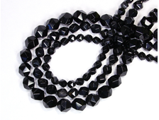 Бусина Агат черный, шар крупная грань 10 мм (1 шт) №16401