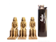 PHARAOH STATUES  (PAINTED)