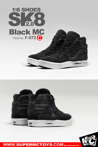 Кеды (кроссовки) 1/6 SK8 SHOES 2.0 Black MC (F-072) - SuperMCToys