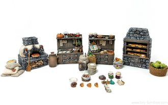 Medieval bakery (PAINTED)