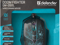 DEFENDER 340 Мышь игровая Doom Fighter GM-260L