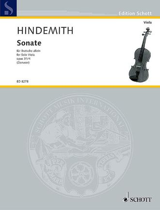 Hindemith Sonata op.31/4  for Viola solo