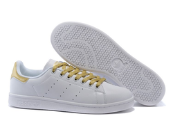 Adidas Stan Smith White/Yellow бело-желтые