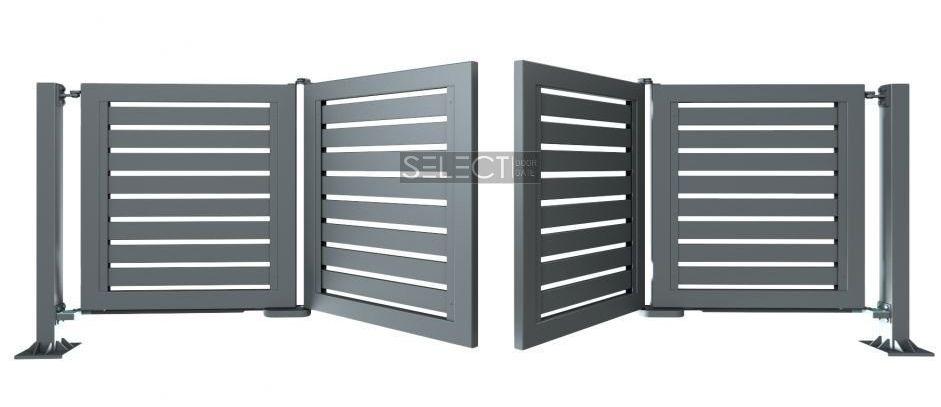 современные ворота типа гармошка - складные конструкции - wisniowski
