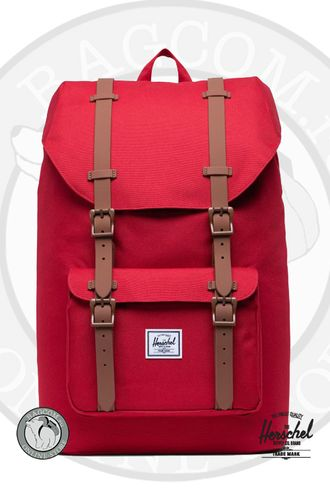 Herschel Little America Mid Volume Dark Olive/Saddle Brown