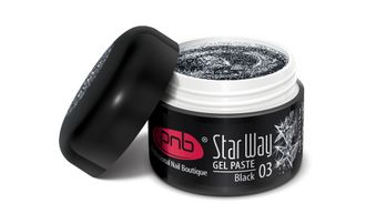 "UV/LED Gel Paste PNB ""Star Way"", 03 Black, 5 ml"