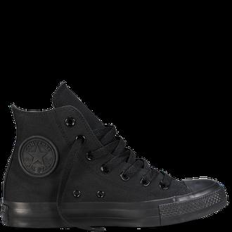 81593028 Черные Converse Black MONOCHROME | Кеды высокие с черной подошвой ...