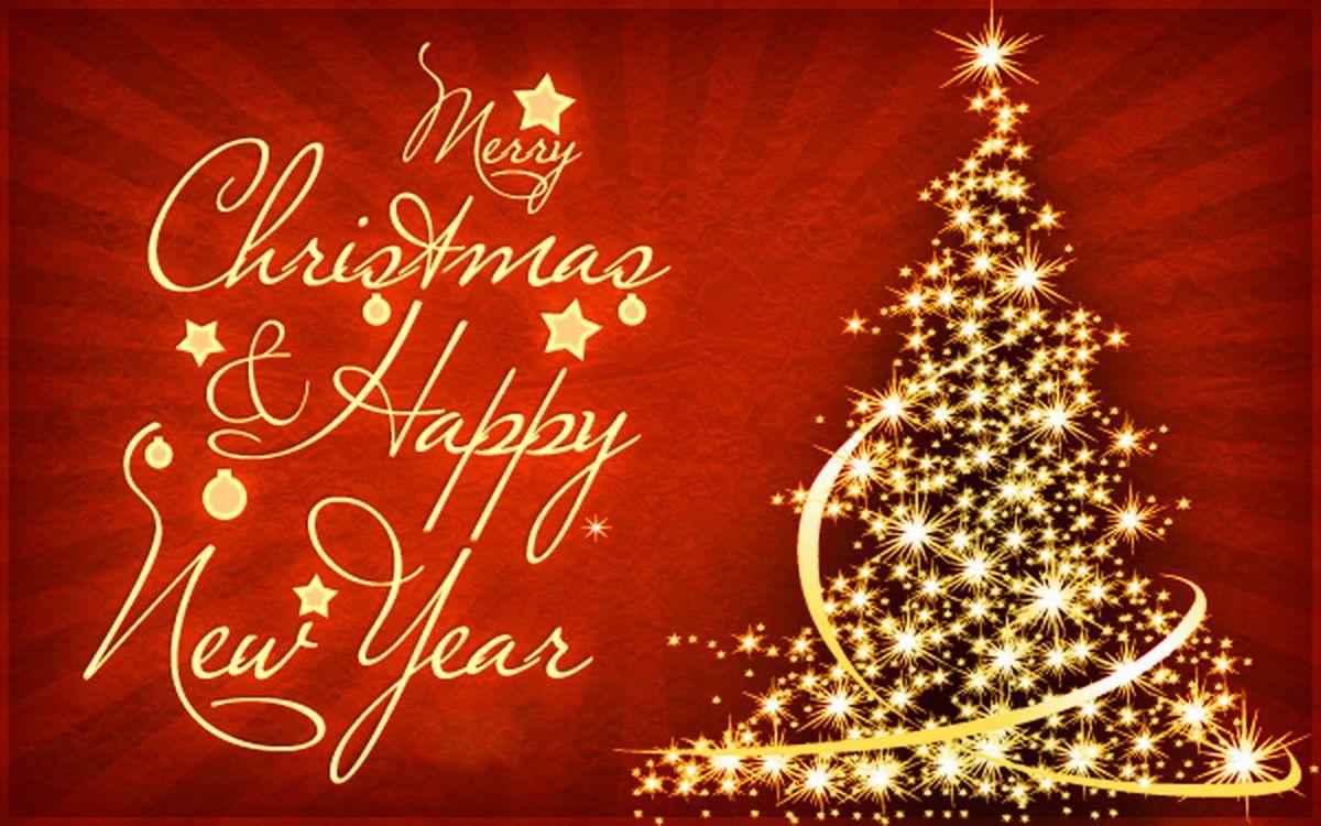 Днем рождения, открытка на английском с новым годом и рождеством