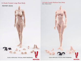 Фигурка VERYCOOL  1:6 Scale Female Body Version 3.0 FX03-A
