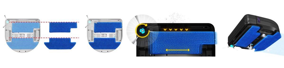 Роботы для сухой и влажной уборки, 2 в 1