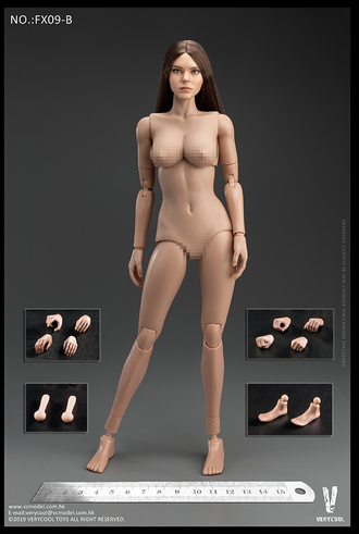 ТЕЛО И ГОЛОВА 1/6 Western Beauty Head Sculpt + VC 3.0 Female Body Set (FX09 B) - VERYCOOL
