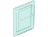 Glass for Train Door with Lip on All Sides, Trans-Light Blue (35157 / 6244883)