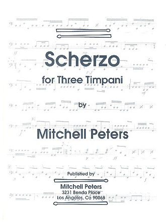Peters, Mitchell Scherzo for 3 timpani one player