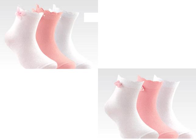 Conte Kids tip top Носки детские хлопок с лайкрой для девочек с декором Арт. 7С50, 10 пар (1 упаковка)
