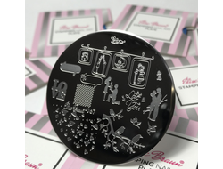 STAMPING PLATE NAIL ART #67