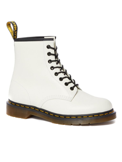 Ботинки Dr. Martens SMOOTH LEATHER LACE UP boots белые женские