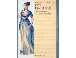 Mozart. Cosi fan tutte Vocal score