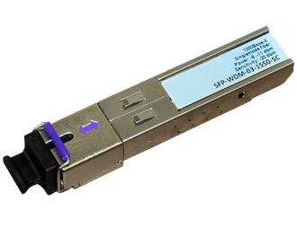 Трансивер  SFP WDM 1000Base-BX 3км TX 1550 nm/RX 1310 nm, SC connector