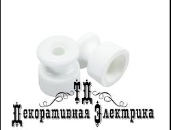 Изолятор керамический, Bironi, цвет: белый
