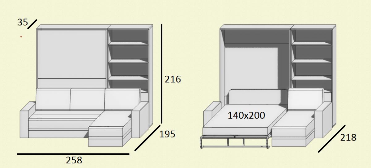 вертикальные кровати шкаф кровать с угловым диваном
