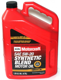 FORD MOTORCRAFT SAE 5W-20 Synthetic Blend (4,73_литра/OEM:XO-5W20-5QSP)