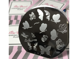 STAMPING PLATE NAIL ART #58