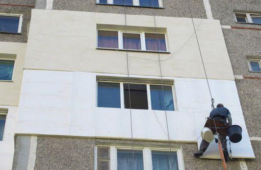 Фото утепление квартиры промышленными альпинистами