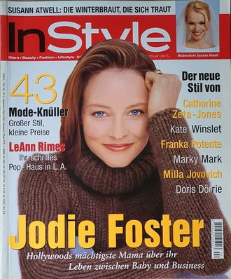 Instyle Germany Magazine February 2000 Jodie Foster, Женские иностранные журналы,Intpress