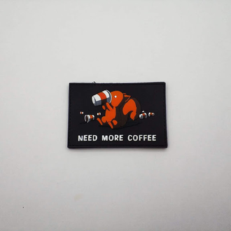 Патч Need more coffee ПВХ (9 х 6 см)