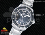 Fifty Fathoms SS Black ZF 11 Best Edition Black Dial on SS Bracelet