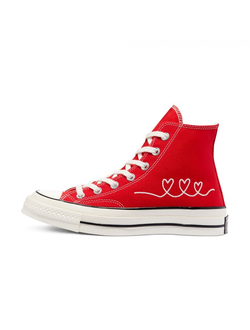 Кеды Converse Chuck 70 Valentine's Day High Top женские красные