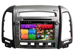 Автомагнитола MegaZvuk T8-7031 Hyundai Santa Fe (CM) (2006-2012) на Android 8.1 Octa-Core (8 ядeр) 7""