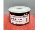 CD-R 80 52x Bulk/50 Full Ink Print (CMC)